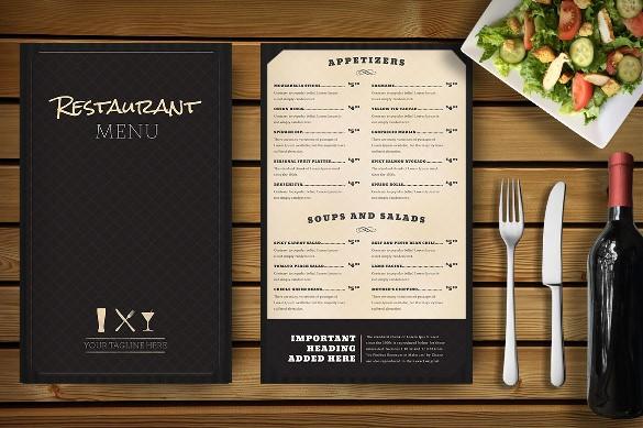 Restaurant Menu Template Free Download Beautiful Restaurant Menu Template 33 Free Psd Eps Documents