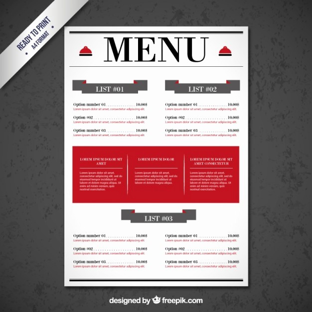 Restaurant Menu Template Free Download Best Of Restaurant Menu Template Vector