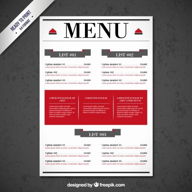 Restaurant Menu Template Free Download Best Of Restaurant Menu Template Vector