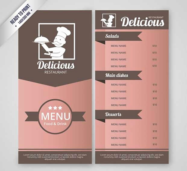 Restaurant Menu Template Free Download Fresh 26 Free Restaurant Menu Templates to Download