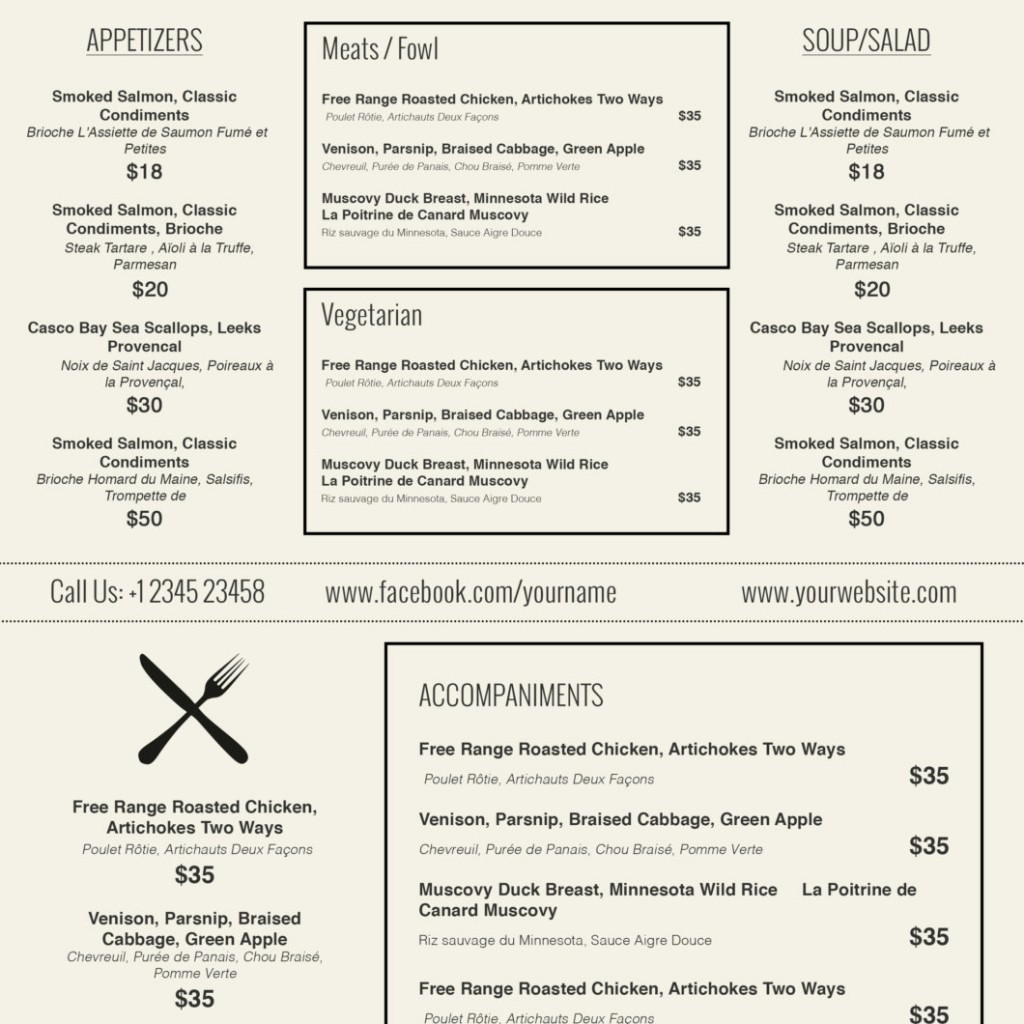 Restaurant Menu Template Free Download Fresh Design & Templates Menu Templates Wedding Menu Food