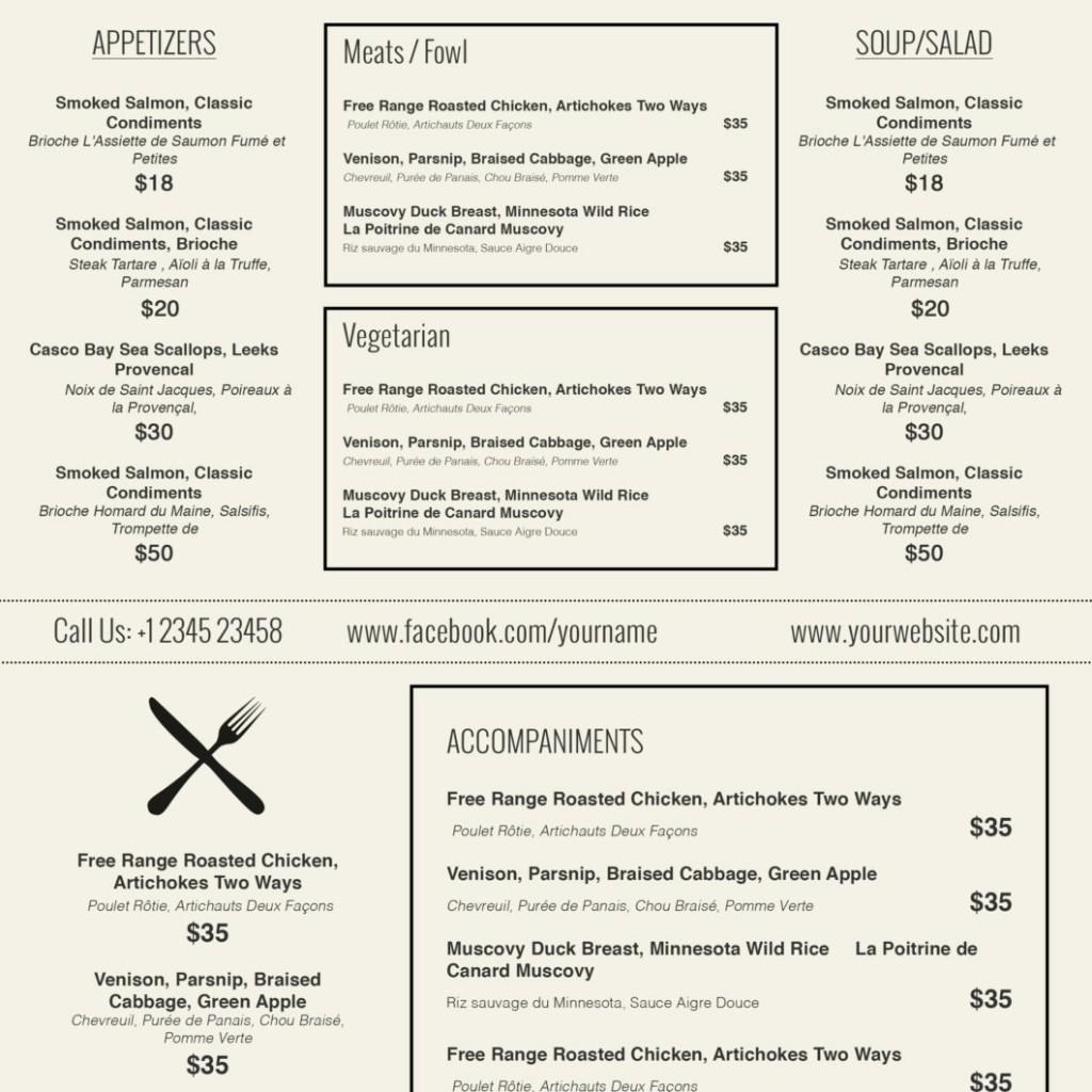 Restaurant Menu Template Free Download Fresh Design & Templates Menu Templates Wedding Menu Food