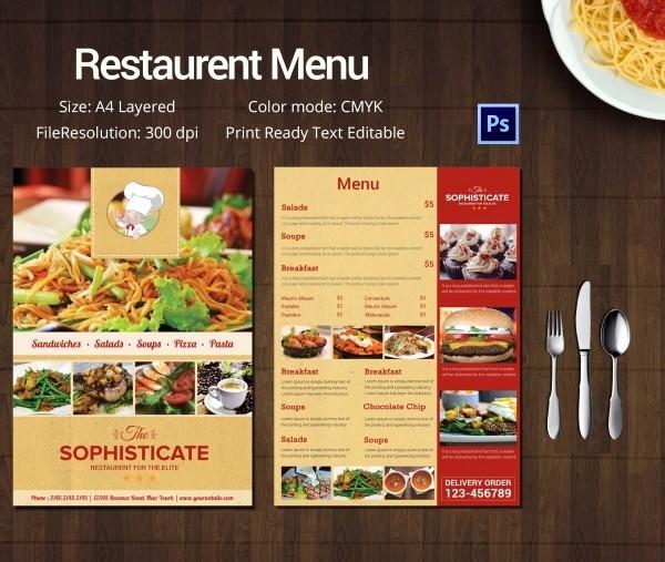 Restaurant Menu Template Free Download Fresh Restaurant Menu Template 45 Free Psd Ai Vector Eps