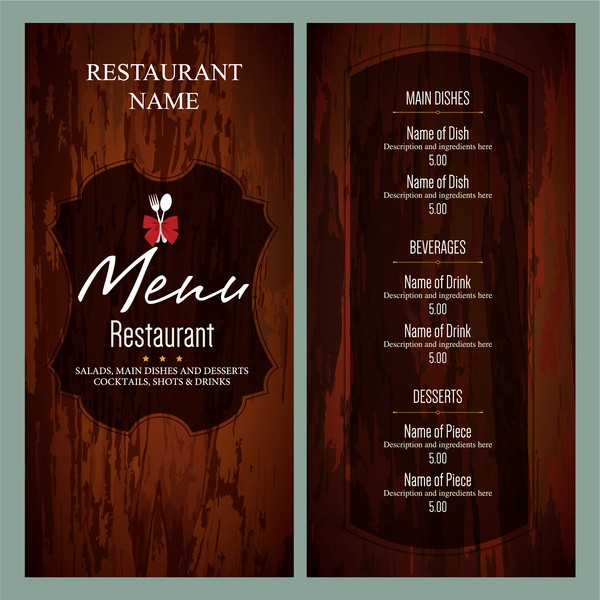 Restaurant Menu Template Free Download Fresh Restaurant Menu Template Free Vector 17 626 Free