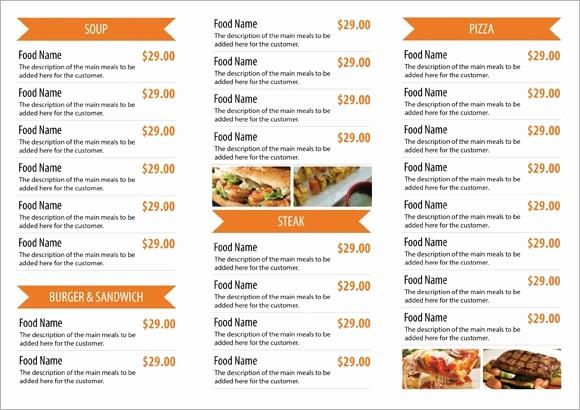 Restaurant Menu Template Free Download Fresh Restaurant Menu Templates Free Download