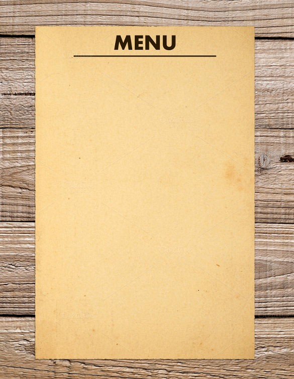 Restaurant Menu Template Free Download Unique 37 Blank Menu Templates Pdf Ai Psd Docs Pages