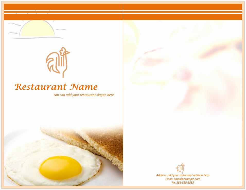 Restaurant Menu Template Free Download Unique Breakfast Menu Template Word Templates