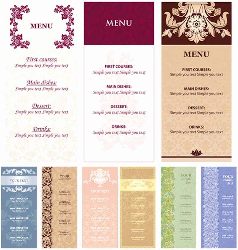 Restaurant Menu Template Free Download Unique Restaurant Menu Card Templates Free Download