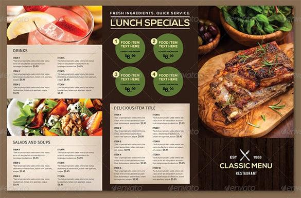Restaurant Menu Template Free Download Unique Restaurant Menu Template 53 Free Psd Ai Vector Eps