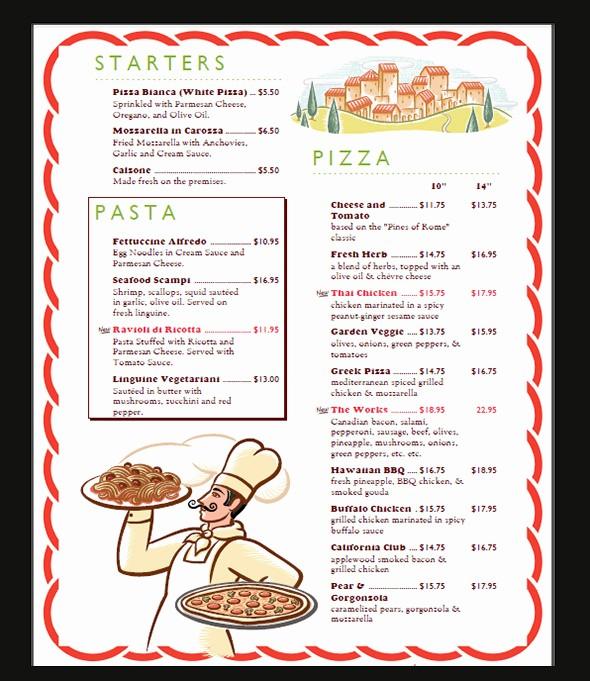 Restaurant Menu Template Microsoft Word Beautiful 42 Sample Menu Cards