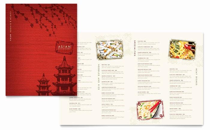 Restaurant Menu Template Microsoft Word Elegant asian Restaurant Menu Template Design