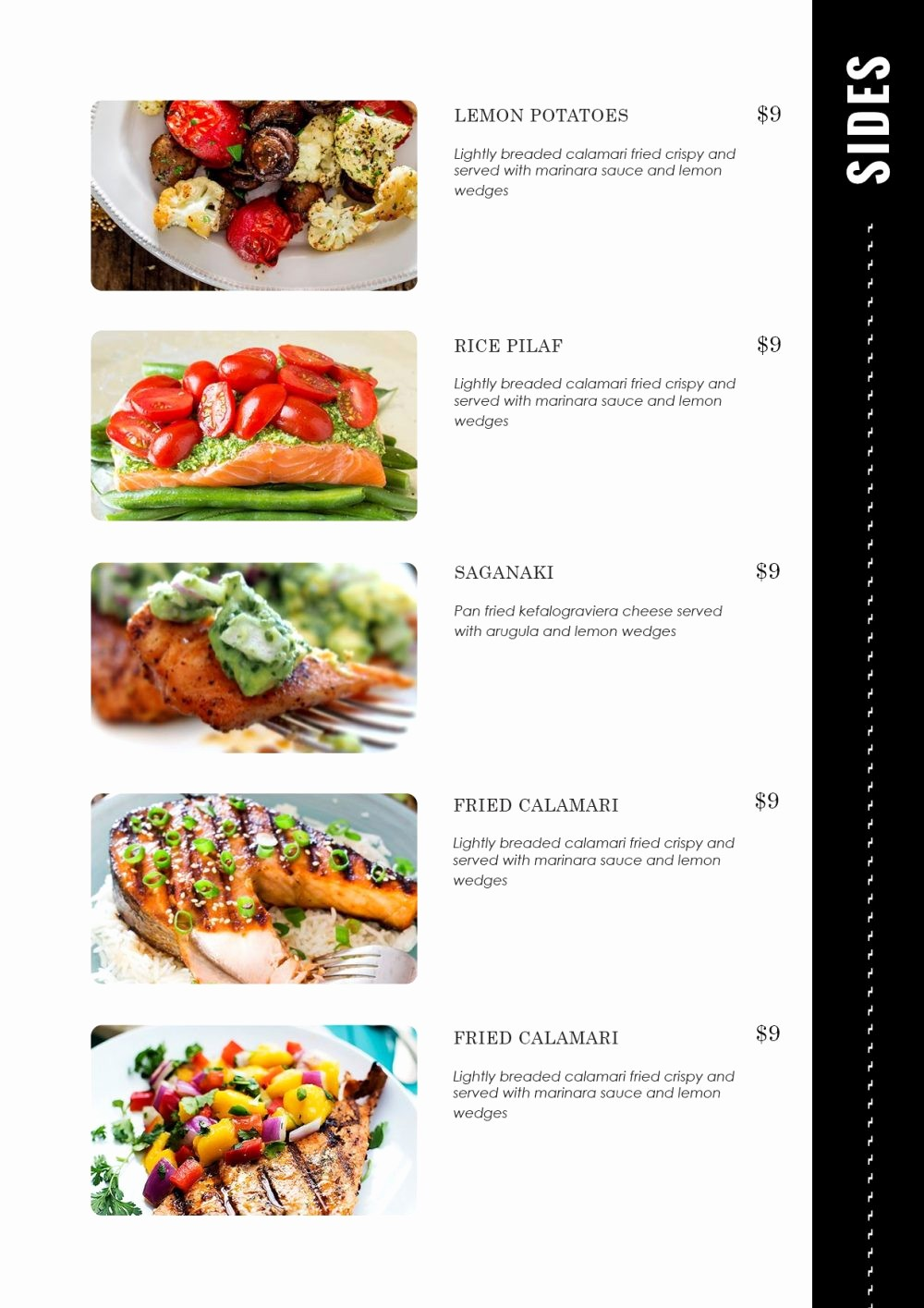 Restaurant Menu Template Microsoft Word Elegant Design & Templates Menu Templates Wedding Menu Food