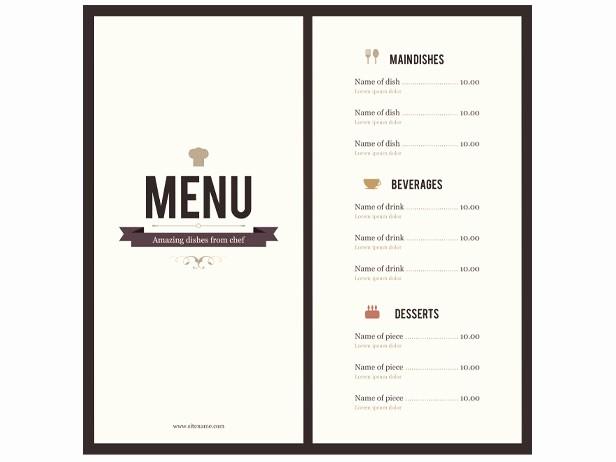 Restaurant Menu Template Microsoft Word Luxury 8 Menu Templates Excel Pdf formats