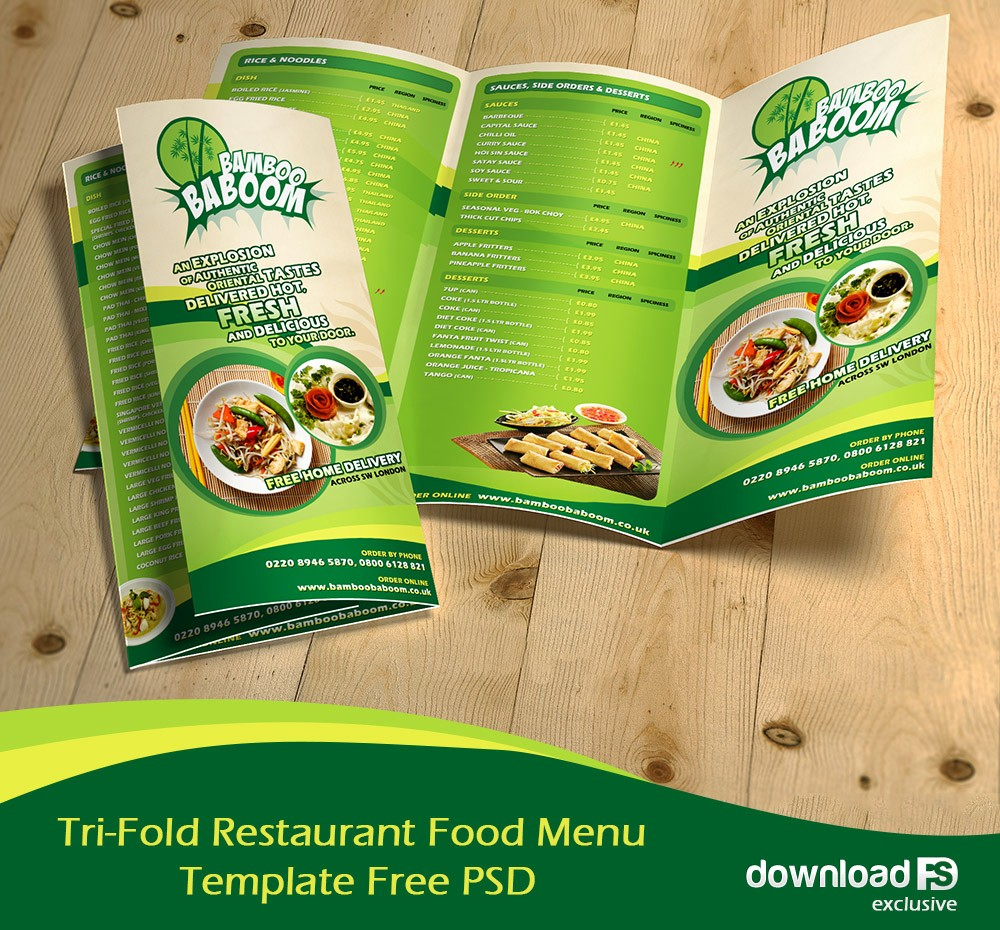Restaurant Menu Templates Free Download Elegant 16 Tri Fold Brochure Free Psd Templates Grab Edit & Print