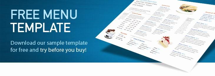 Restaurant Menu Templates Free Download Fresh Free Restaurant Menu Templates