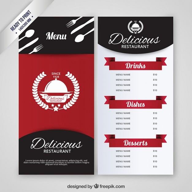 Restaurant Menu Templates Free Download Fresh Restaurant Menu Vectors S and Psd Files