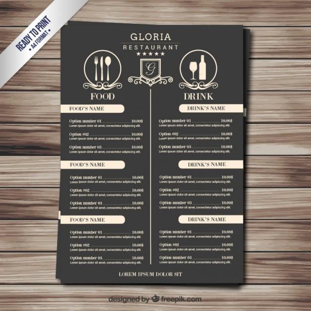 Restaurant Menu Templates Free Download Fresh Retro Menu Vector
