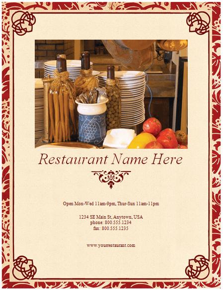 Restaurant Menu Templates Free Download Lovely Restaurant Menu Template 8 Free Restaurant Menus
