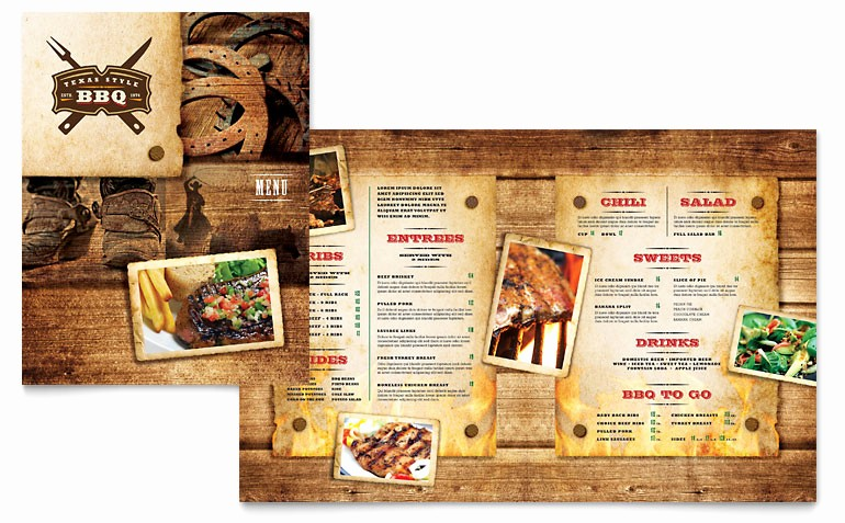 Restaurant Menu Templates Free Download Lovely Steakhouse Bbq Restaurant Menu Template Word & Publisher