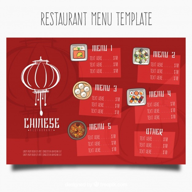 Restaurant Menu Templates Free Download New Chinese Restaurant Menu Template Vector