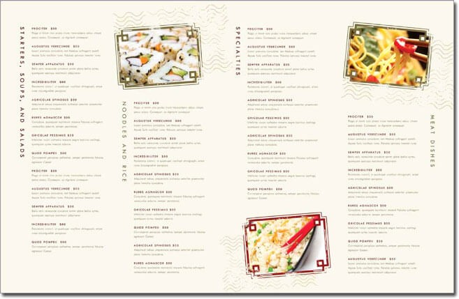 Restaurant Menu Templates Free Download Unique 12 Best Chinese Food Restaurant Menu Templates
