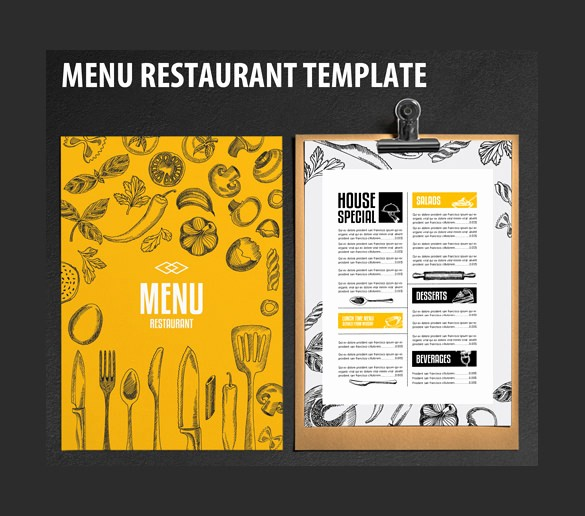 Restaurant Menu Templates Free Download Unique Restaurant Menu Template 33 Free Psd Eps Documents