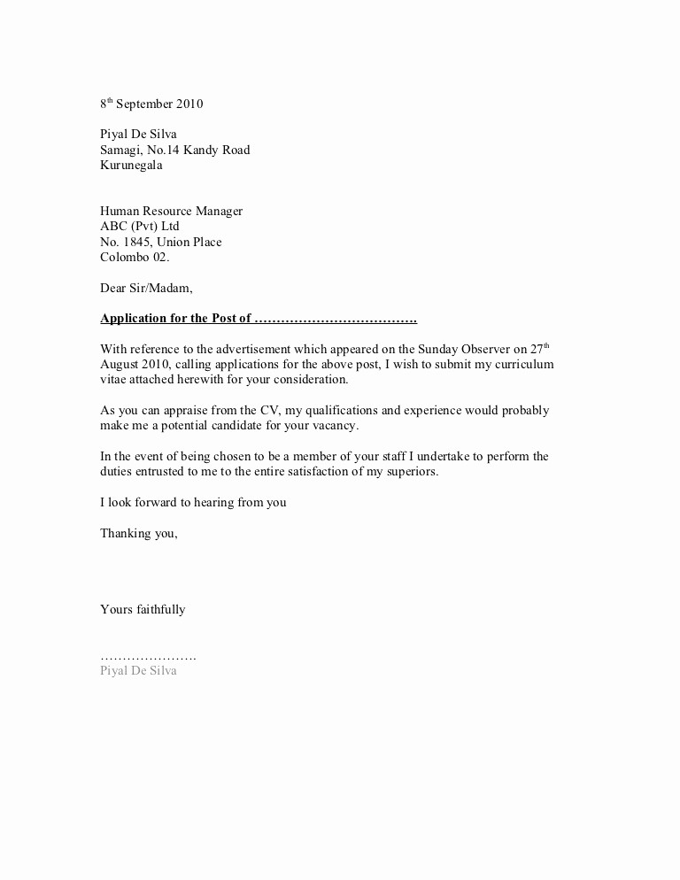 Resume and Cover Letter formats Luxury 10 General Cover Letter Sample Samplebusinessresume