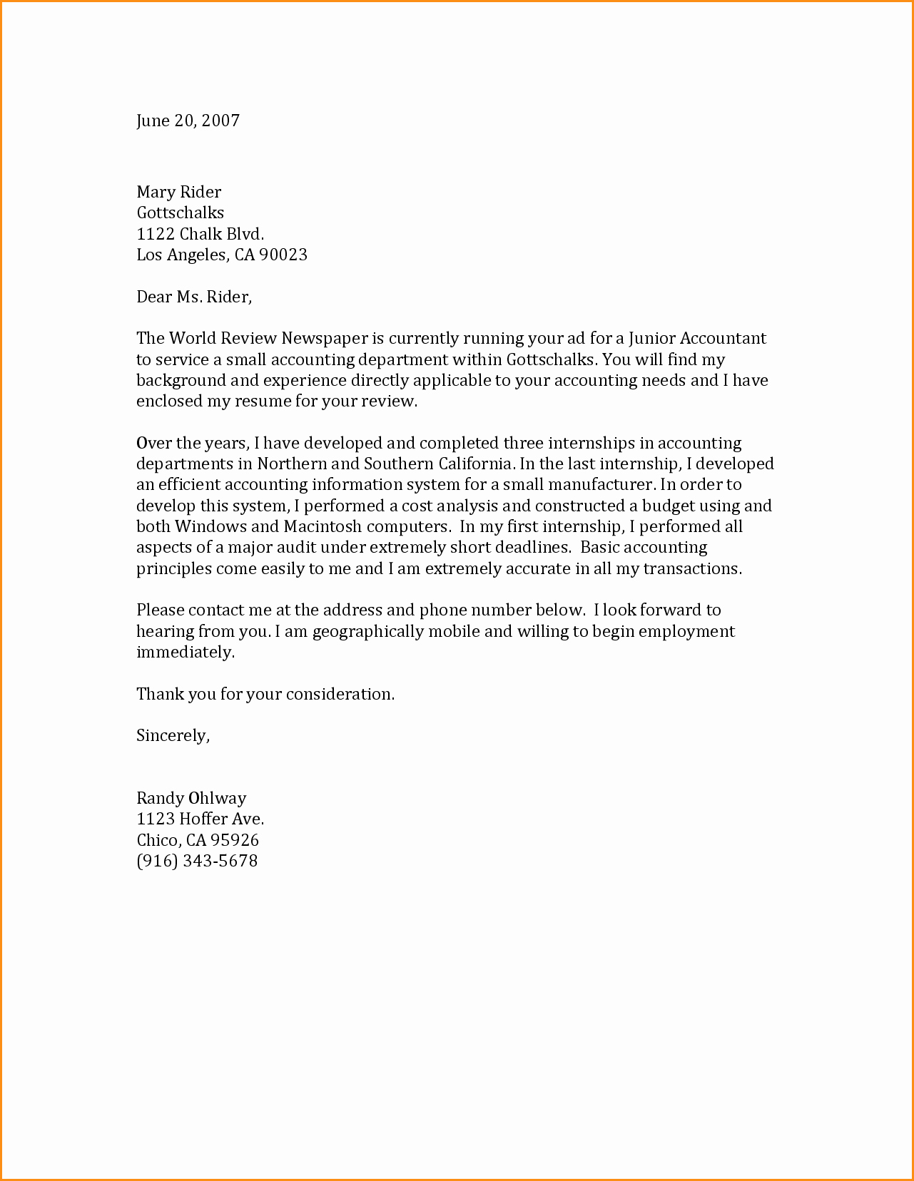 Resume and Cover Letter Template New 6 General Cover Letter Samples