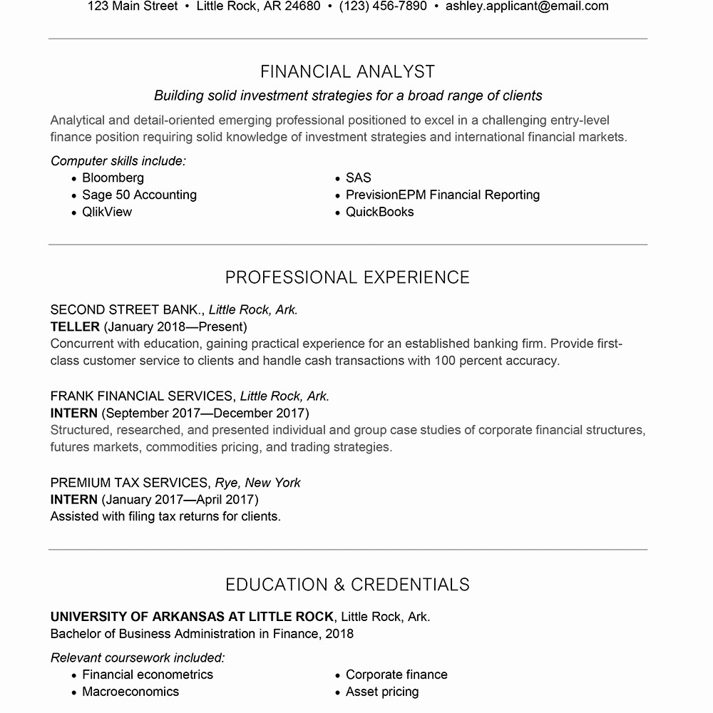 Resume Cover Letter Entry Level Awesome Venture Capital Resume