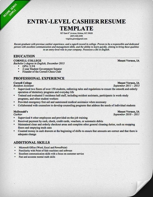 Resume Cover Letter Entry Level Beautiful Entry Level Resume Examples Resume Template