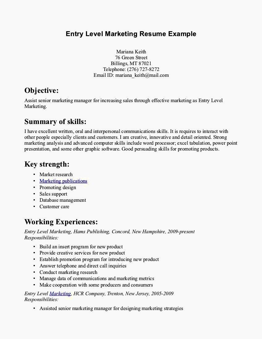 Resume Cover Letter Entry Level Elegant Entry Level Clerical Resume Samples