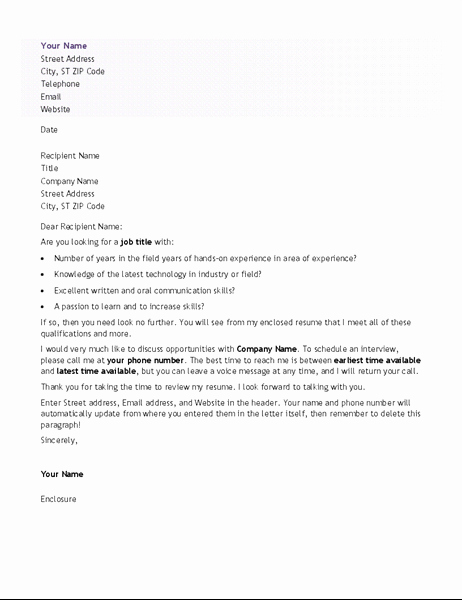 Resume Cover Letter Entry Level Fresh Cover Letter for Entry Level Resume