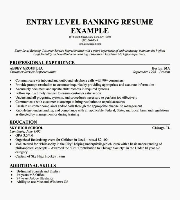Resume Cover Letter Entry Level Unique Entry Level Customer Service Resume