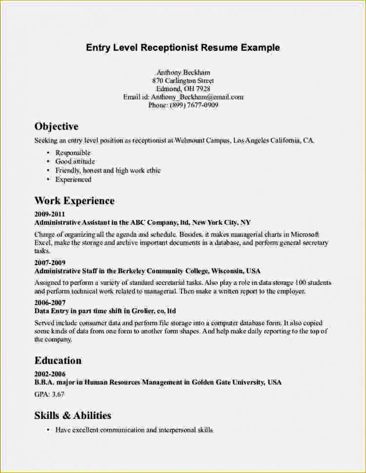 Resume Cover Letter Entry Level Unique Entry Level High School Resume Resume Template