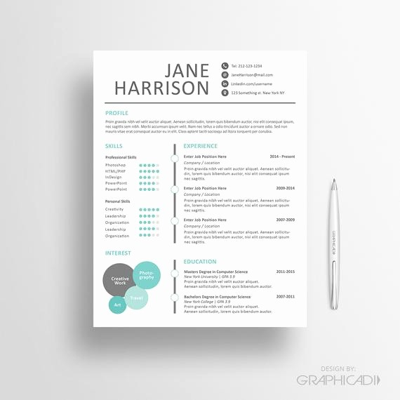 Resume Cover Letter Templates Word Beautiful Creative Resume Template Cover Letter Word Resume by