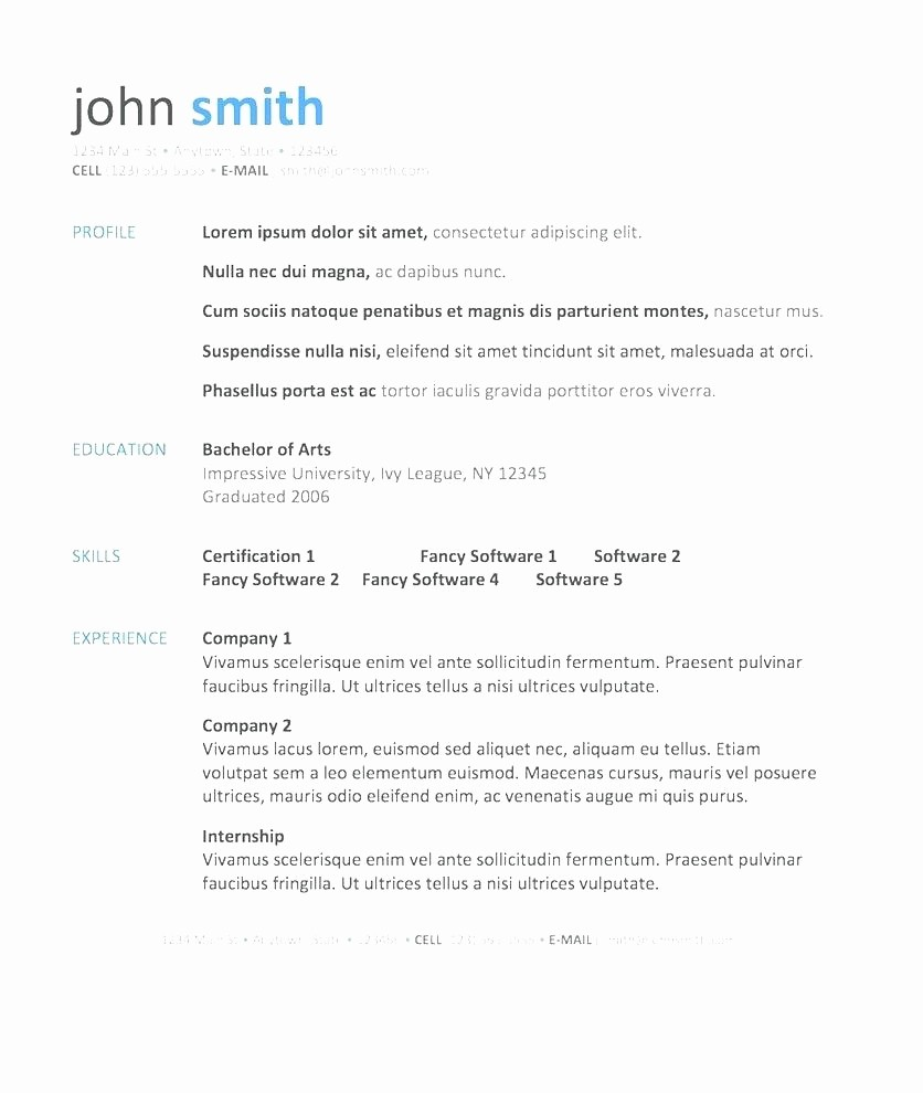 Resume Cover Letter Templates Word Inspirational Template Resume Cover Letter Template Microsoft Word