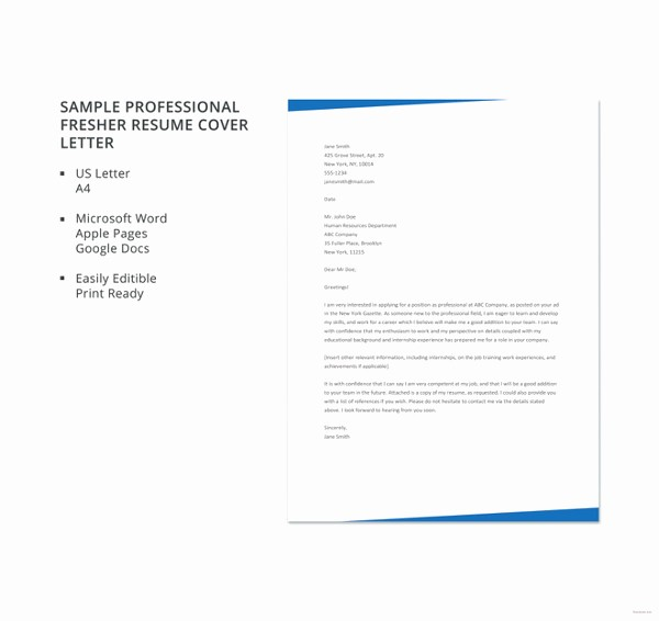 Resume Cover Letter Templates Word Lovely 15 Professional Cover Letter Templates Pdf Google Docs