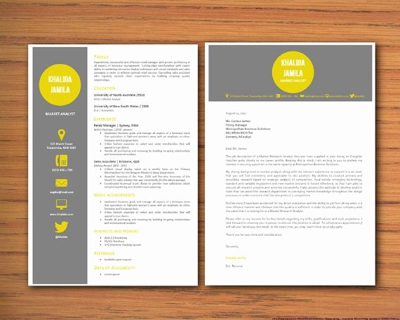 Resume Cover Letter Word Template Inspirational Modern Microsoft Word Resume and Cover Letter Template