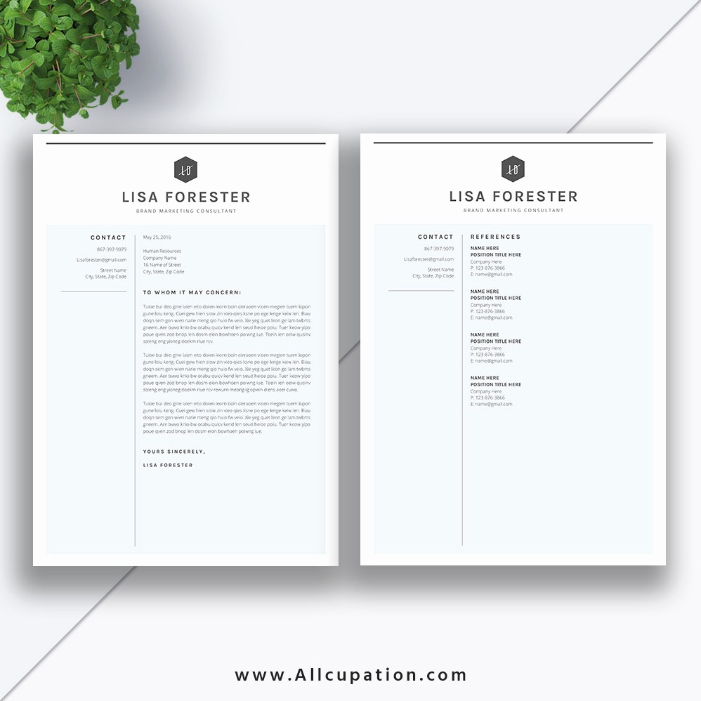 Resume Cover Letter Word Template New Clean and Simple Resume Template 2019 2 Pages Modern Cv