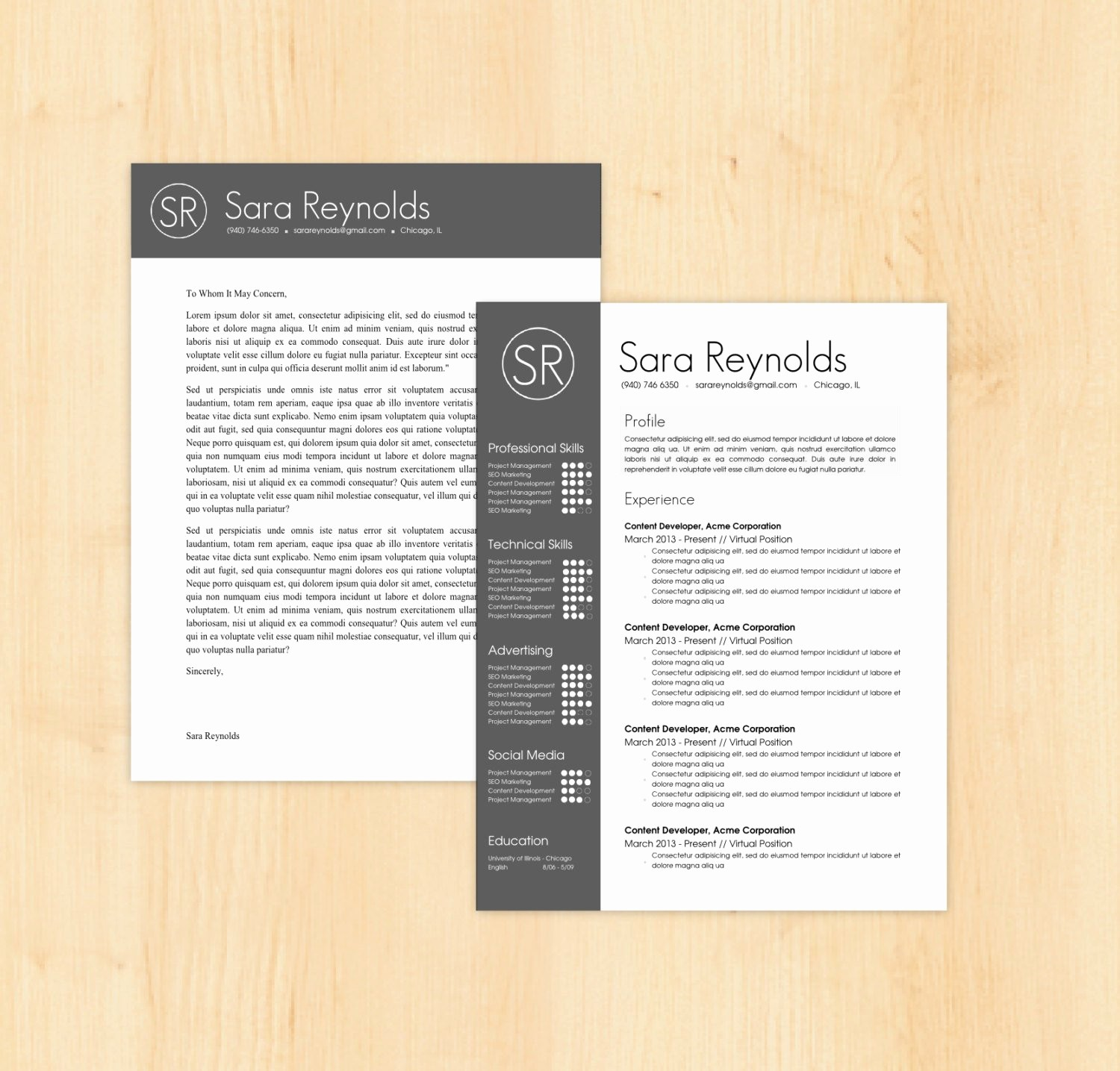 Resume Cover Letter Word Template New Resume Template Cover Letter Template the Sara by Phdpress