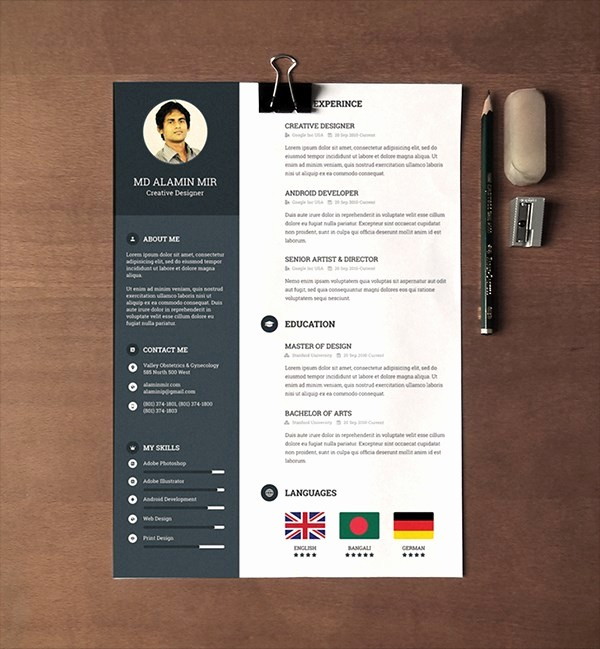 Resume Cover Page Template Free Awesome 28 Minimal & Creative Resume Templates Psd Word & Ai