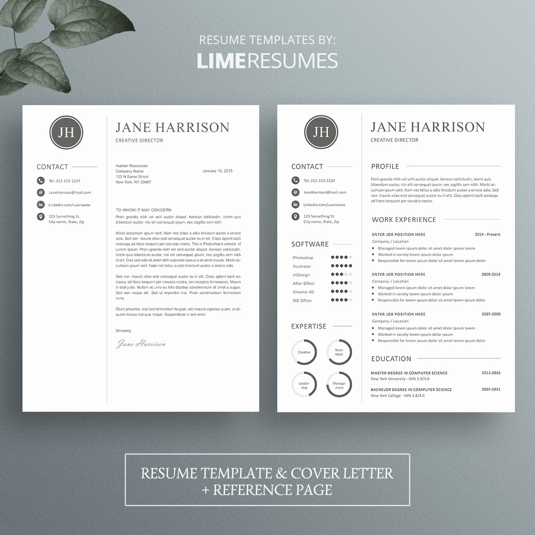 Resume Cover Page Template Free Best Of Professional Cv Template Matching Cover Letter