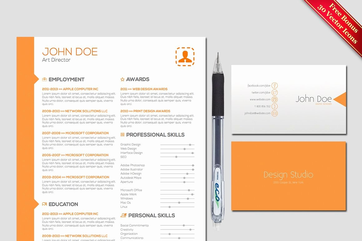 Resume Cover Page Template Free New Resume & Cover Letter Template Resume Templates