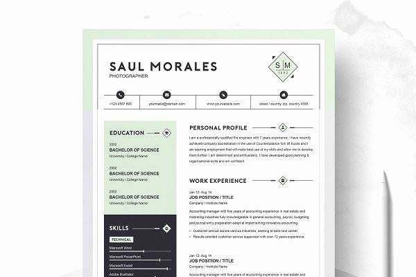 Resume Cover Page Template Free New Resume Templates Creative Market