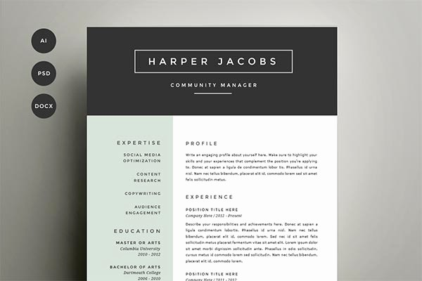 Resume Cover Page Template Word Awesome 15 Microsoft Word Resume Templates and Cover Letters