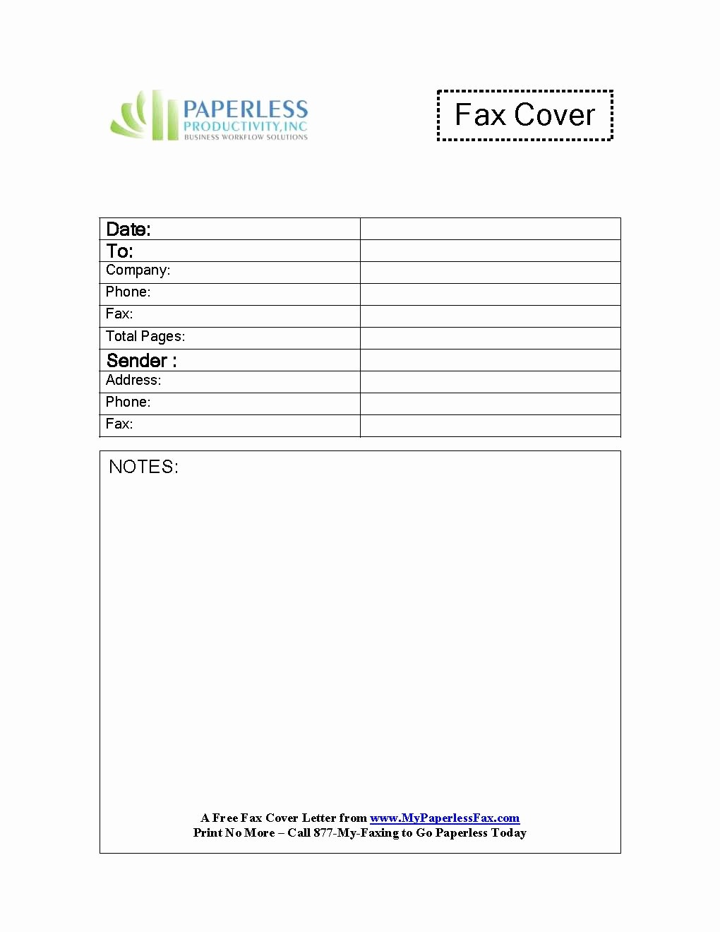 fax cover sheet google doc