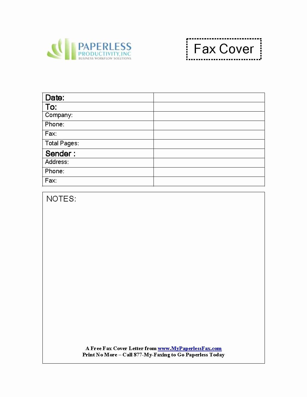 fax cover sheet google doc