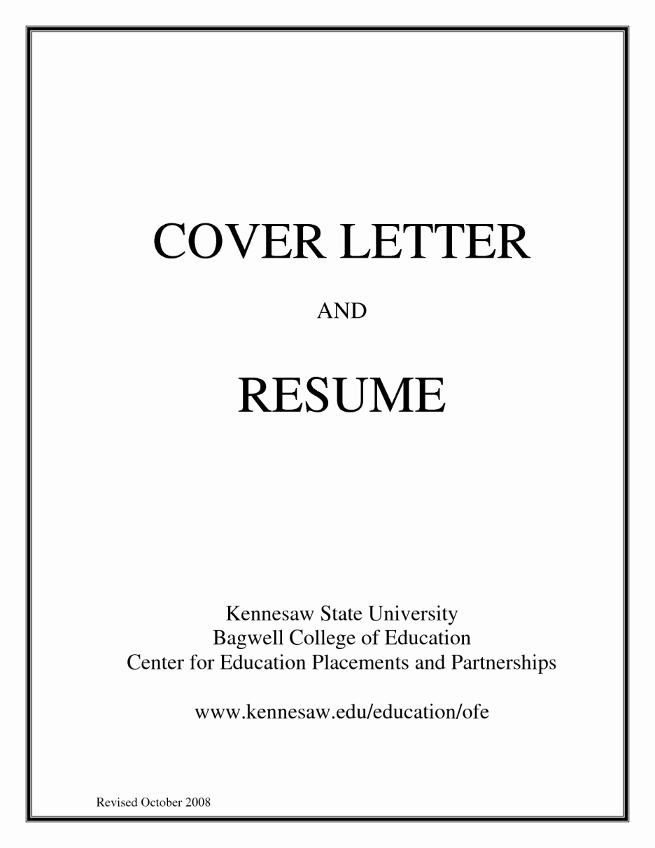 Resume Cover Page Template Word Fresh Basic Cover Letter for A Resume