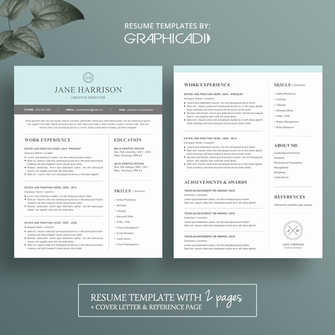 Resume Cover Page Template Word Inspirational Modern Resume Template for Microsoft Word Limeresumes