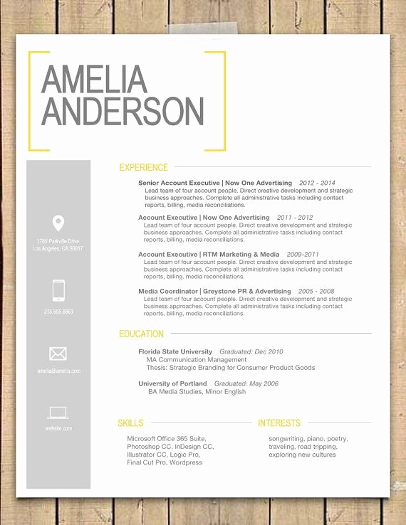 "Resume Cover Page Template Word Inspirational Resume Template the ""sara"""